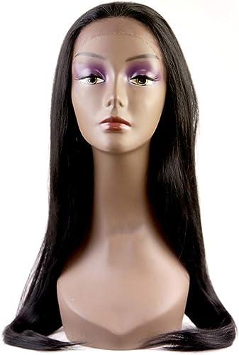 Longue ligne droite perruque synthétique noir perruque de cheveux 24 pouces 66 cm Nouvelle Mode Cosplay Costume DéguiseHommest Robe voiturenaval Parti Résistant à La Chaleur Fibre Moitié à La Main Attaché
