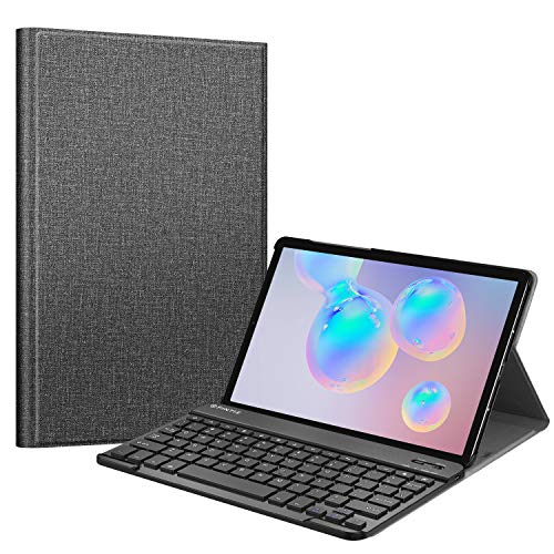 """Fintie Keyboard Case for Samsung Galaxy Tab S6 10.5"""" 2019 (Model SM-T860/T865/T867), [Supports S Pen Wireless Charging] Slim Cover w/Detachable Wireless Bluetooth Keyboard, Gray"""