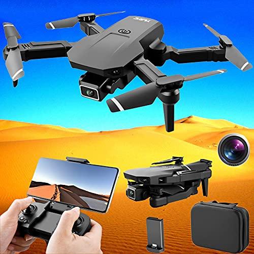 POTIKA S68 Drone RC Com Câmeras HD 4K Para Grandes ângulos, Mini Drone Quadcóptero dobrável 3D Flip 6-Axis Gyro Voo sem cabeça Modo 3D Flip Altitude Hold Modo, FPV Drones, 1 Bateria