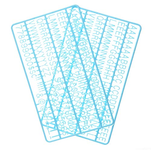 3/4 Inch Letters for Flet Letter Boards,300 Pieces Including Letters, Numbers & Symbols for Changeable Plastic Message Boards (Light Blue)
