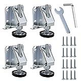 Sumnacon Nivelador de muebles ajustable, resistente, 4 unidades, M10, patas de nivelación para mesas, estanterías, armarios, banco de trabajo con tuercas de bloqueo