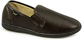 Dr Keller Mens Twin Gusset Slippers Slip On Good Strong Soles UK Size 6-7-8-9-10-11-12