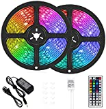 LED Strip Lights, 32.8 ft RGB Led Light Strip 600 LED 5050 SMD IP65 Waterproof...