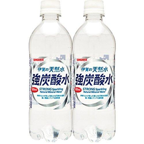 伊賀の天然水 強炭酸水 500ml×48本 PET