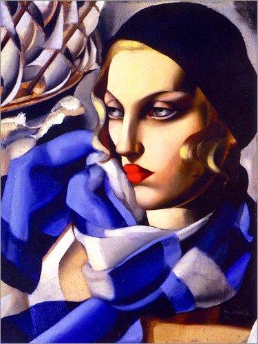Posterlounge Stampa su PVC 70 x 90 cm: The Blue Scarf di Tamara de Lempicka/Museum Masters International