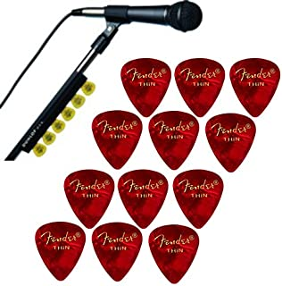 Dunlop Music Stand Pickholder w//12 Pack of Picks By The Pound Picks 1.10mm
