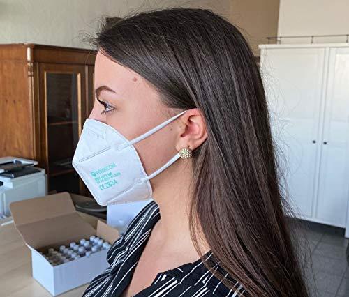 ZEMEX 10x Powecom FFP2 KN95 Medizinische Zertifiziert Atemschutz Maske inkl Maskenhalter Mundschutz CE 2834 Schutzmaske ORIGINAL Geprüft EN149:2001+A1:2009 FAKECHECK Echtheitsprüfung