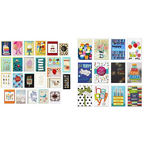 Hallmark Pack of 24 Handmade Assorted Boxed Greeting Cards, Modern Floral—Birthday Cards, Baby Shower Cards, Wedding Cards, Sympathy Cards & Assorted Birthday Greeting Cards (12 Cards and Envelopes)