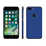 stika.co Pegatina de Piel Azul de Fibra de Carbono Vinilo Autoadhesivo para Apple iPhone 7 Plus 5.5' Model