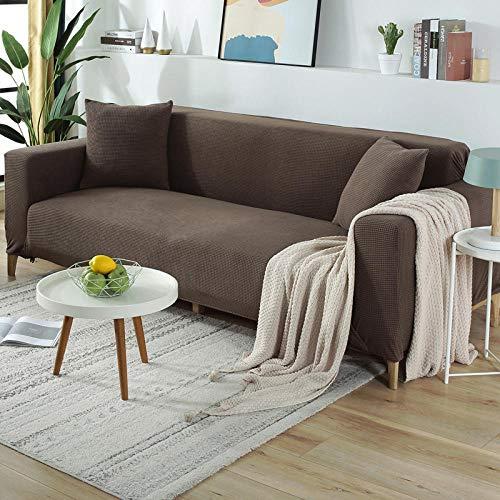 B/H Lavable/Antiácaros Funda de sofá,Funda de sofá Engrosada, Funda de sofá Completamente elástica-Gris D_190-230cm,Sillón Elastano Fundas de Sofá