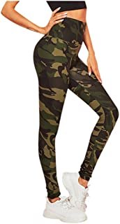 WYTong Fashion Workout Running Yoga Leggings For Womens Camouflage Printing Tightening Sports Casual Yoga Pants