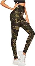 KINGOLDON Yoga Leggings Womens Print Camouflage Tight Hips High Waist Running Fitness Pants