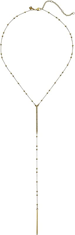 Rebecca Minkoff - Beaded Pave Bar Y Necklace
