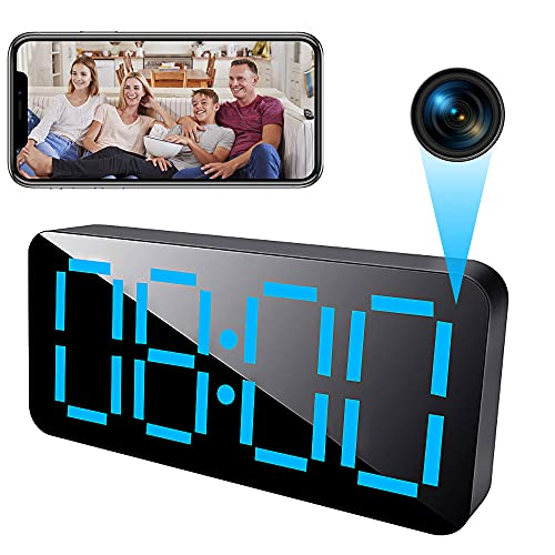 4K Hidden Camera Clock WiFi, 1080P HD Wireless Spy Camera with Night Vision and Motion Detective,...