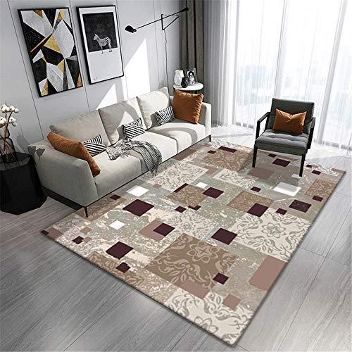 AU-SHTANG alfombras Modernas Alfombra antibacteriana Moderna fácil de Limpiar de la decoración de la casa Alfombra pie de Cama -Gris_Los 50x80cm
