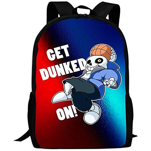 Mochila de Viaje Computer Backpack,Undertale-Sans Basketball | Comfortable & Light School Bags Multiple Pockets Backpack for Kids/Youth/Boys/Girls