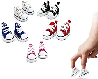 Mimeela 5 Pack Mini Finger Shoes, Cool Mini Skateboard Shoes for Finger Breakdance, Fingerboard, Doll Shoes, Used As Makin...