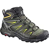 SALOMON X Ultra 3 Mid GTX, Stivali da Escursionismo Alti Uomo, Grigio (Castor Gray/Black/Green Sulphur 000), 42 2/3 EU