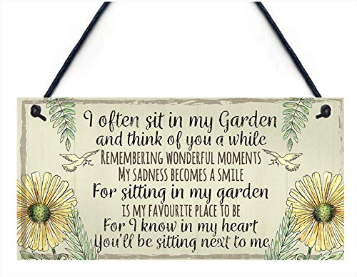 Meijiafei Garden Plaque Summer House Sign Garden Shed Friendship Mum Nan Memorial Gift 10' X 5'