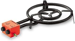 My-Gastro Quemador para paelleras, diámetro de 70 cm, potencia de 23,5 kW, parrilla de hierro fundido, woks, cacerolas, paelleras, gas, 1 anillo quemador de gas
