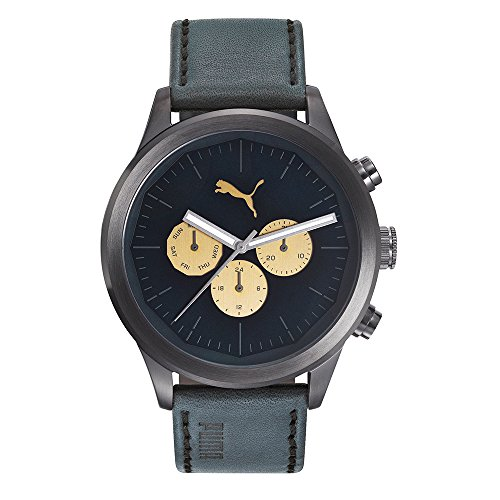 Puma Reloj Multiesfera para Hombre de Cuarzo con Correa en Cuero PU104281001
