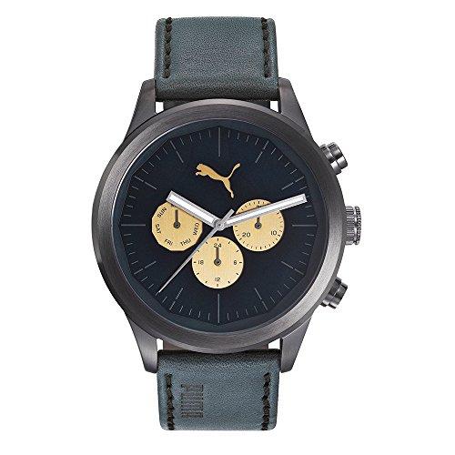 PUMA TIME Orologio Multi-quadrante Quarzo Uomo con Cinturino in Pelle PU104281001