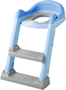 SXXDERTY Ladder Stool Kids Training Seat Adjustable Toilet Potty Chair Sturdy Non-Slip