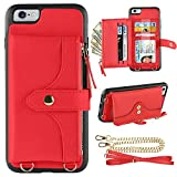 LAMEEKU Wallet Case Compatible with iPhone 6S Plus, iPhone 6 Plus...