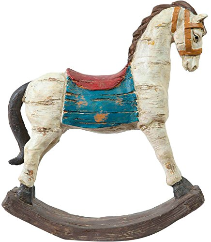 Cavallo a dondolo in ceramica dipinta L28xPR7,2XH30,5 cm