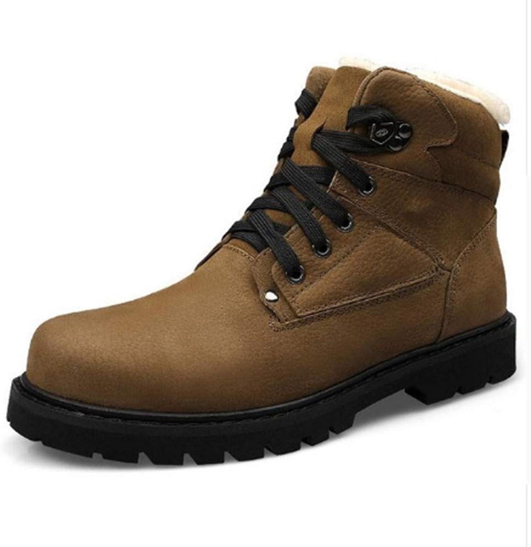 WWLST stövlar Den senaste varma vinter Män's Män's Män's PU Wear Casual skor herrar Snow skor Arbete  kvalitetsprodukt