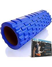 FIT NATION Fasciarol - Foam Roller Set voor zelfmassage met oefenboek - Sport massagerol voor beginners, professionals, dames en heren