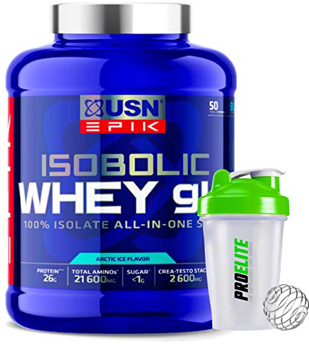 USN Epik Isobolic Whey gH 100% Isolate All-in-One Stack Protein 1.6kg + Shaker