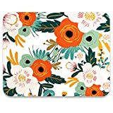 AUDIMI Mouse Pad with Floral Pattern Non-Slip Rubber Base for Office Gaming Computer