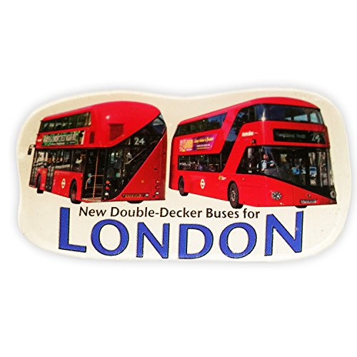 Classic Red New Routemaster / Route Master bus lasergesneden magneet Fridge Locker Quality London Boris Bus Icon rode bus magneet / autobus Rojo Imán / bus Rouge Aimant / bus Rosso magneten Iconic Decal Custom Collection Souvenir