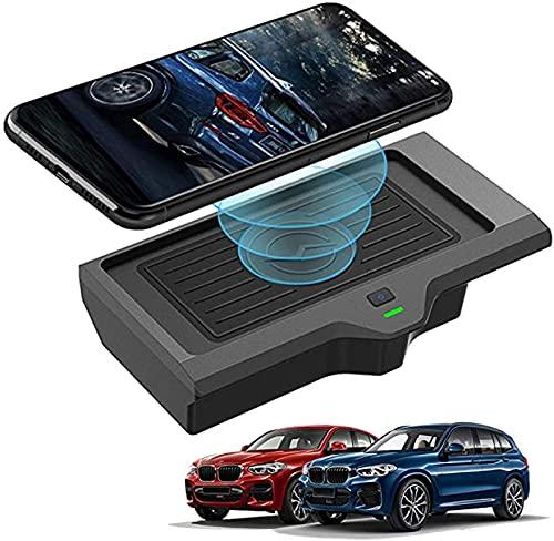 Auto Caricabatteria Wireless per BMW X3 X4 2018 2019 2020 Pannello Accessori Console Centrale Scheda di ricarica wireless per auto,Qi 10W senza fili Ricarica Rapida Tappetino Caricabatterie Telefono