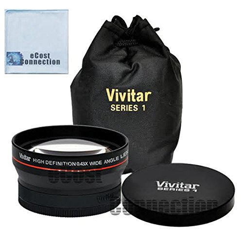 Pro Series 67mm 0.43x Wide Angle High Definition Lens for All Canon, Nikon, Pentax, Olympus, Fujifilm, Panasonic, Sony Cameras & More + eCost Microfiber Cleaning Cloth