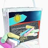 Smart Planet® Straßenmalkreide 20-TLG Kinderkreide 6 versch. Farben Kreide für Kinder zum Malen...