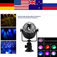 XYUANG LED Stage Light USB Rechargeable Crystal Magic Ball Mini LED Light Auto Voice Activated Lamp for Stage Disco Party Club DJ Lumie