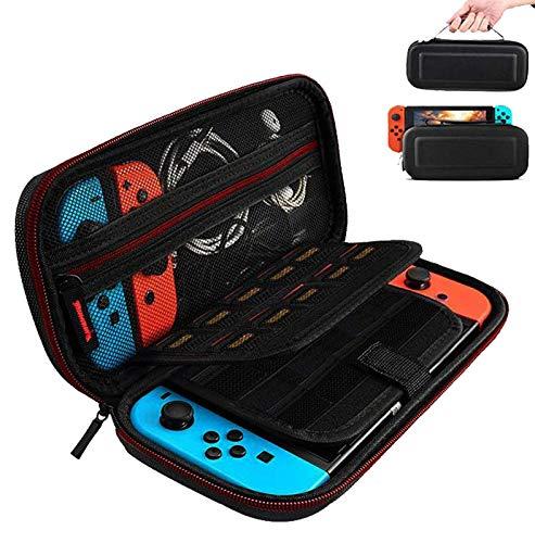 Funda para Nintendo Switch,Case de protección para Nintendo Switch, Bolsa Transporte Ligera Case con más Espacio de Almacenamiento para 19 Juegos para Accesorios Nintendo Switch