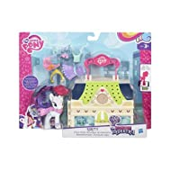 Take your pony adventures anywhere with these My Little Pony carry-case playsets! Each set features a place from My Little Pony Friendship Is Magic comes with a 3-inch pony figure and eight accessories