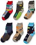 Jefferies Socks Boys' Little Fun Assorted Animals Pattern Cotton Crew Socks 6 Pair Pack, multi, Small