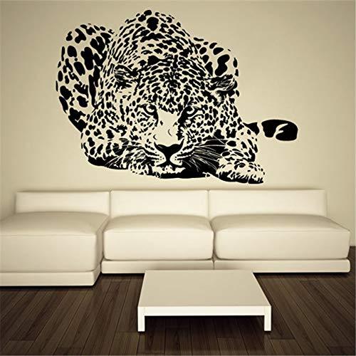 Leopardo Pantera Africana Animal salvaje Velocidad Bestia Selva Predator Etiqueta de la pared Calcomanía de vinilo Niño Dormitorio Sala de estar Estudio Oficina Decoración para el hogar Mural
