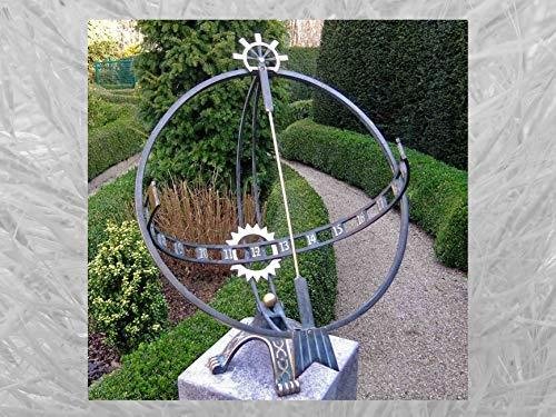 IDYL Outdoor Zeitmesser aus Bronze Große Sonnenuhr - hochwertig und auffällig | Nr. 1263 | Maße: 66 x 49 x 52 cm