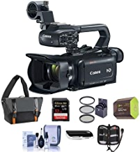 Canon XA11 Compact Professional Camcorder with HDMI, 20x HD Optical Zoom, Bundle with Video Bag, 32GB SDHC U3 Card, Spare Battery, 58mm Filter Kit, Cleaning Kit, Memory Wallet, Card Reader