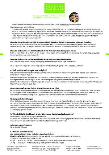 Sanct Bernhard KMW Knoblauch-Mistel-Weißdorn Kapseln, 480 Kapseln - 4
