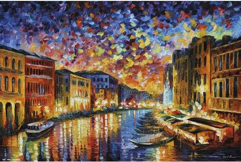 Leonid Afrémov - Venice - Kunst Poster Gemälde historisch - Grösse 91,5x61 cm