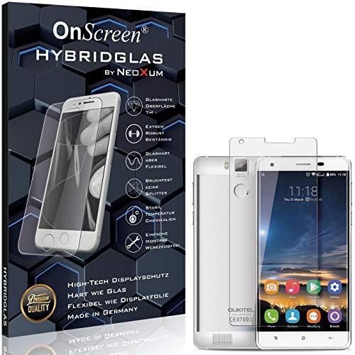 OnScreen Schutzfolie Panzerglas kompatibel mit Oukitel K6000 Pro Panzer-Glas-Folie = biegsames HYBRIDGLAS, Bildschirmschutzfolie, splitterfrei, MATT, Anti-Reflex - entspiegelnd
