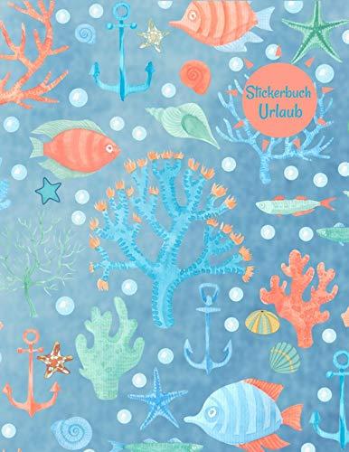 Stickerbuch Urlaub: Stickeralbum leer, Sticker Sammelalbum, extradickes Stickerheft