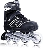 Adjustable Inline Skates for Kids and Adults with Light up Wheels Beginner Skates Safe and Durable Inline Roller...