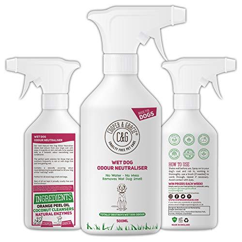 C&G Pets C&G Hunde-Neutralisierer für Nassgeruch, 500 ml, wasserloser Lösungsmittel für Hunde, ohne Spülen, Spray, angenehm riechende Zutaten, 100% frei